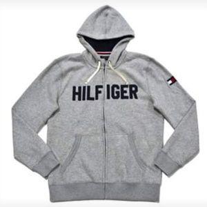 Tommy Hilfiger Hoodie Mens Full Zip Fleece Lined J